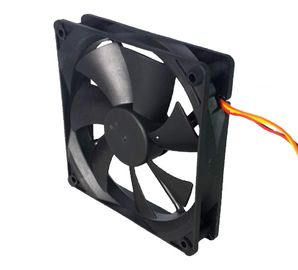 Low Noise 12 Volt Dc Exhaust Fan Sleeve / Dual Ball Bearing Computer Application